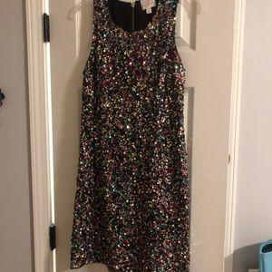 Julie brown nyc multicolor sequin dress